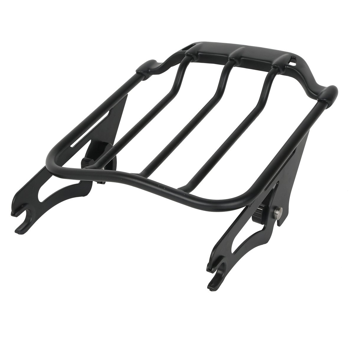 XMT-MOTO Black Air Wing Two Up Luggage Rack For Harley HD Touring Street Glide 2009-2018