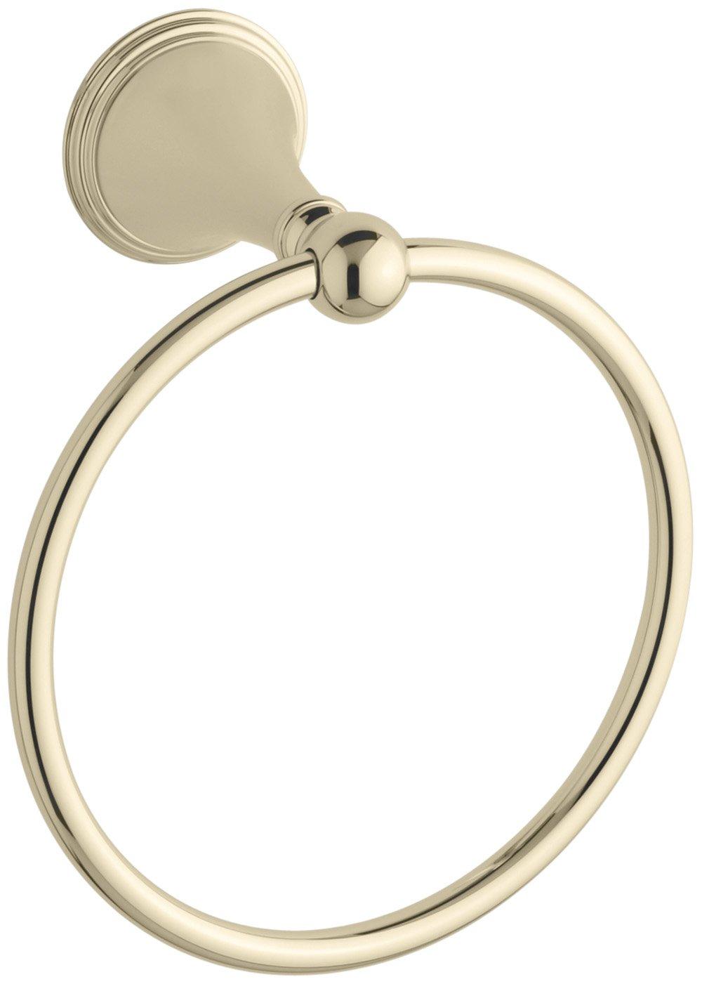 KOHLER K-363-AF Finial Traditional Towel Ring, Vibrant French Gold