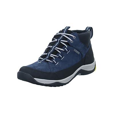 Clarks Casual Hombre Botas Baystone Hi Gore-Tex® En Nobuk Azul Tamaño 43: Amazon.es: Zapatos y complementos