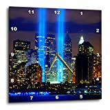 3dRose dpp_61470_3 Beautiful Photograph of The Twin Towers 911 Memorial Lights Never Forget Wall Clock, 15 by 15-Inch Review