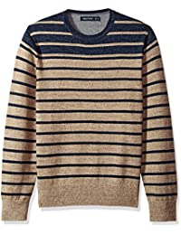 Men's Long Sleeve Engineered Stripe Sweater