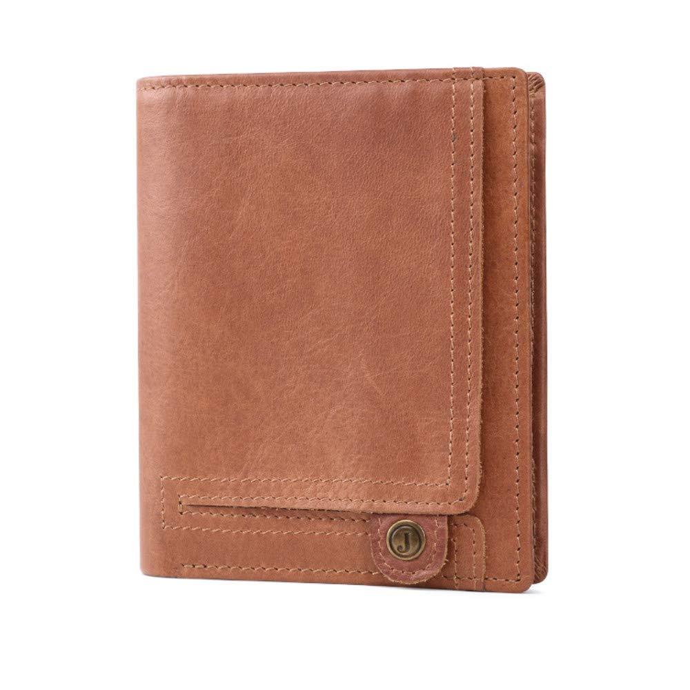 Brieftasche Herrenbrieftaschen mit RFID-Sperrung Trifold Schlanker Kartenhalter aus echtem Leder Ledergeldbörse für Krotitkarten, Ausweise B07M9K4D5M Geldbrsen
