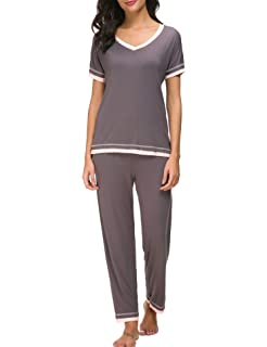 e07b9b6d33 Dolay Pajama Sets Women Soft Sleepwear 2PCS Loungwear Pjs Top With Bottoms  S-XXL
