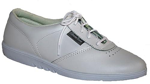 Zapatos de cordones para señora, piel suave de excelente calidad, se pueden lavar en la lavadora, 4 colores, color blanco, talla 35.5: Amazon.es: Zapatos y ...