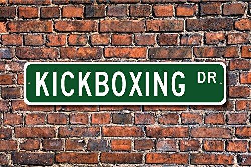 Ballkleid Kickboxing Sign Fan Kickboxing Participant Gift International Sport Yard Fence Driveway Street Sign Indoor Outdoor Decorative