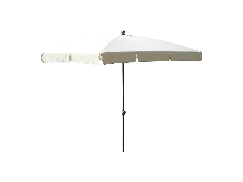 Made in Italy Colore ecru Maffei Art 114R ombrellone rettangolare cm 210x130 tessuto poliestere impermeabile