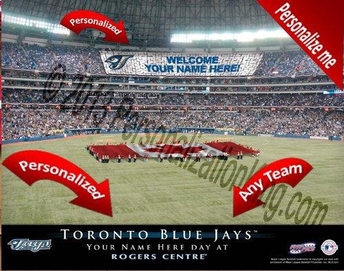 (Toronto Blue Jays Team Stadium Print - Personlized Officially Licensed MLB Photo Print)