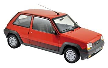 Norev - 185208 - Renault 5 GT Turbo Fase 1 - 1986 (Escala 1/18 - Rojo/Negro: Norev: Amazon.es: Juguetes y juegos