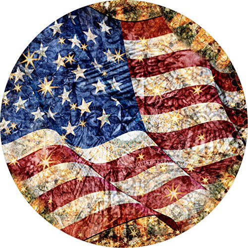 Old Glory US Flag American Flag Spare Tire Cover for Jeep RV Camper Traileretc(225/75r16 (Drop Down menu Sizes Dan Morris(c)