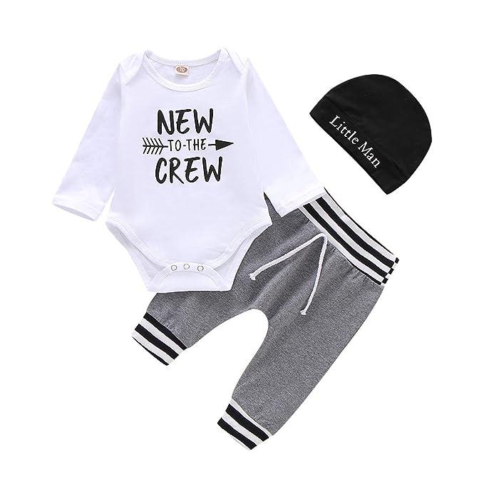 Amazon.com: Conjunto de ropa para recién nacidos para recién ...