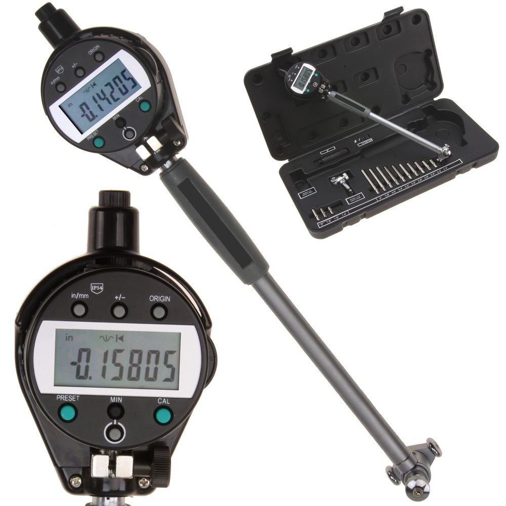 iGaging Bore Gauge 1.4'' - 6''/.00005'' ABSOLUTE Digital Electronic Indicator Gage Inch/Metric Extreme Accuracy