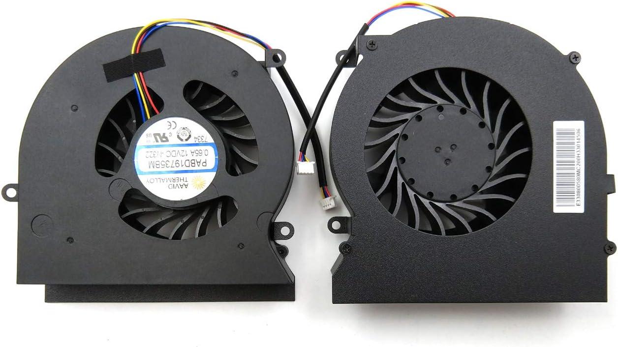 laptopparthub LPH New Replacement CPU & GPU Fan for MSI GT62VR GT62VR-6RD GT62VR-6RE GT62VR-7RD GT62VR-7RE MS-16L1 MS-16L2 PABD19735BM-N322