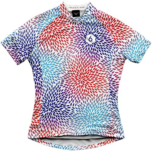 Twin Six Pedal Power Jersey - Women's Red/White/Blue, M