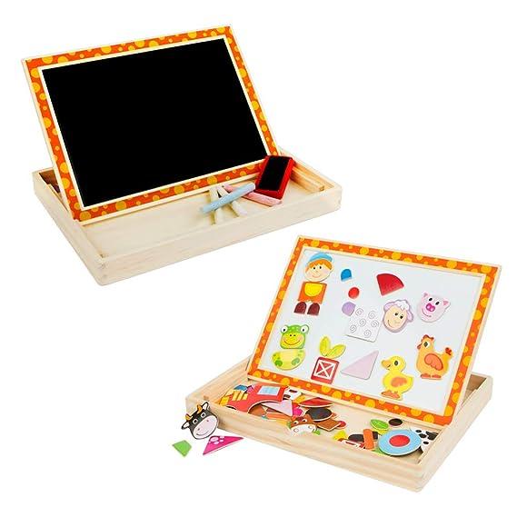ColorBaby Play&Learn Pizarra magnética de madera, granja Multicolor (43897)