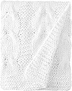 Be-You-tiful Home White Michaela Cable Knitt King Coverlet
