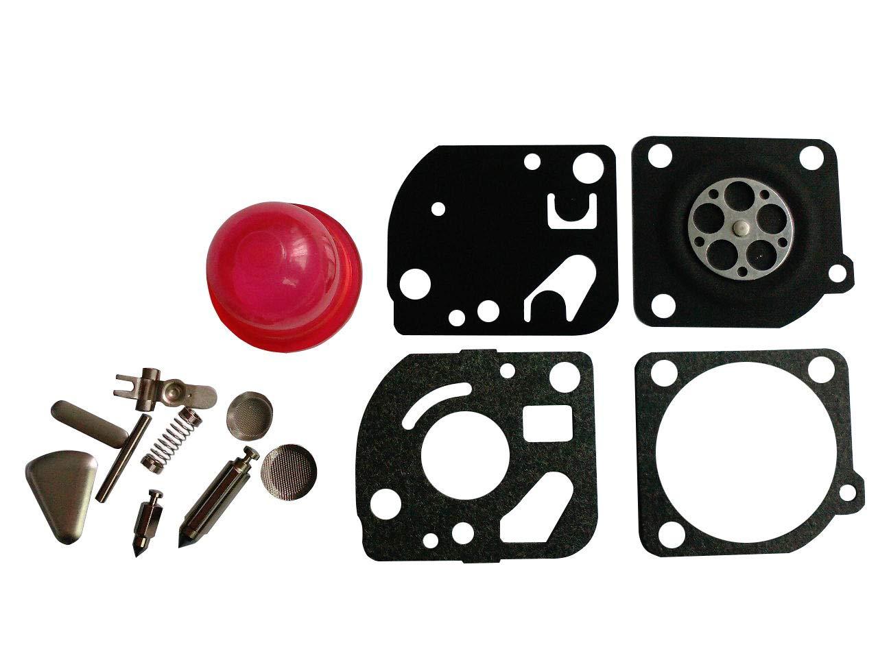 Kit de reparació n/reconstrucció n de carburador sustituye a Zama RB-47 para Poulan Weedeater Craftsman Trimmers soplantes CTS