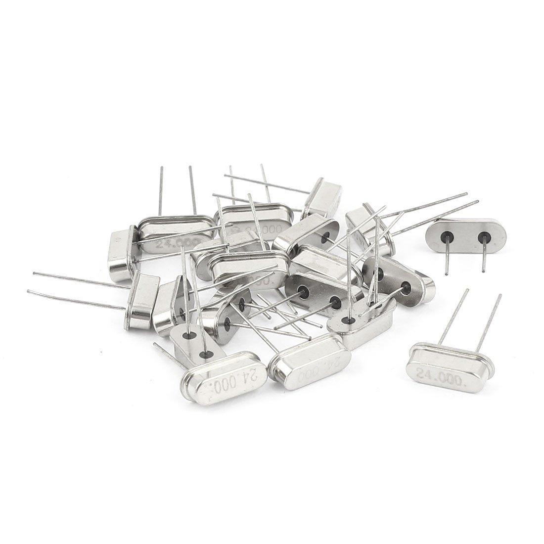 20 x Silber Ton 24MHZ 24M HZ Passive Quarz-Oszillator HC-49S DealMux DLM-B00R1JDJ2Y