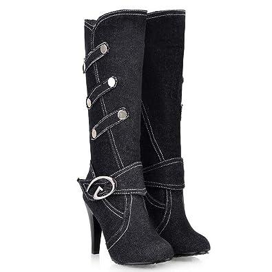 Amazon Com T July Women Fashion Winter Half Boots Soft Elegant