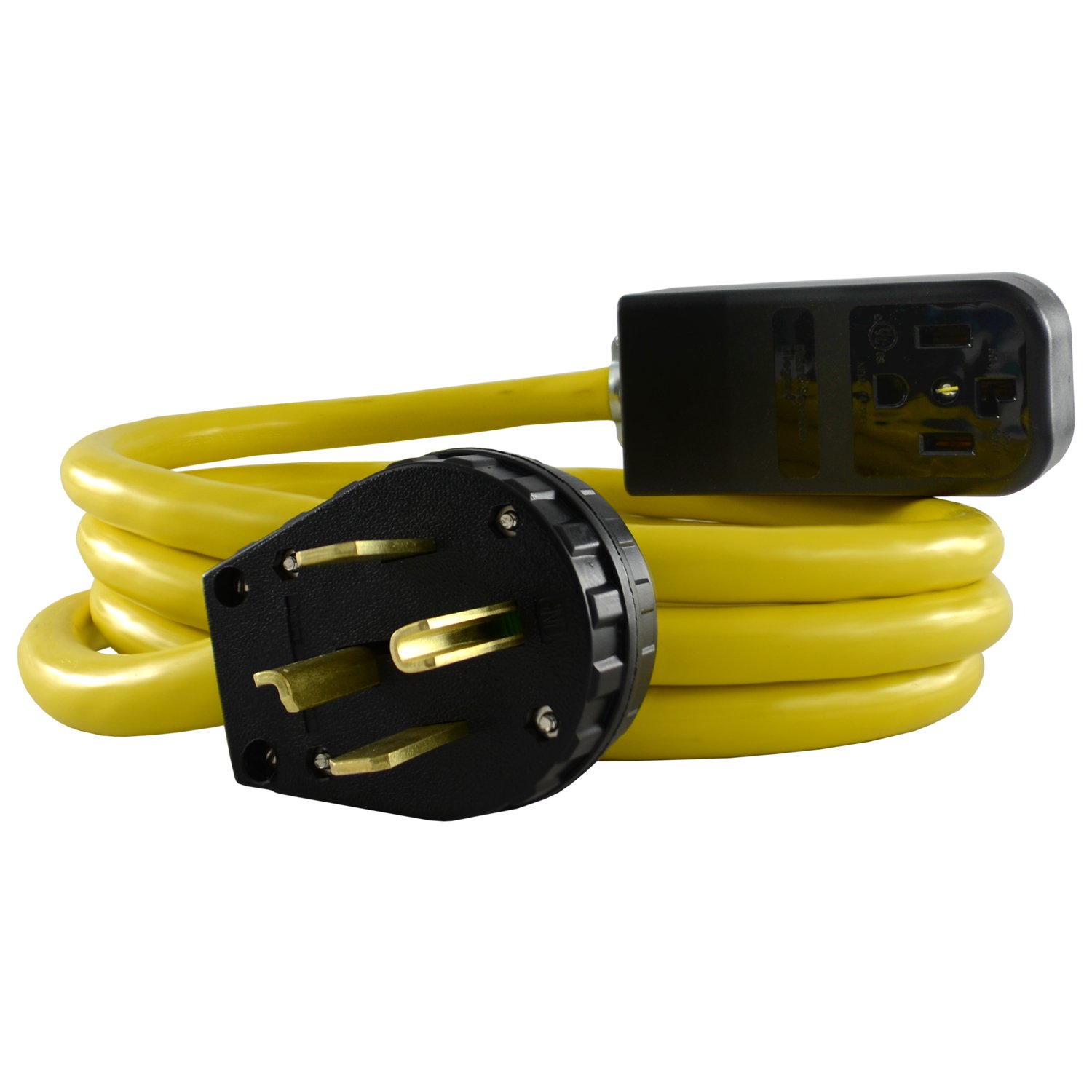 Conntek SB1430PR-010 NEMA 14-30P Heavy Duty Extension Cord, 10 Feet, 10', Black 10'