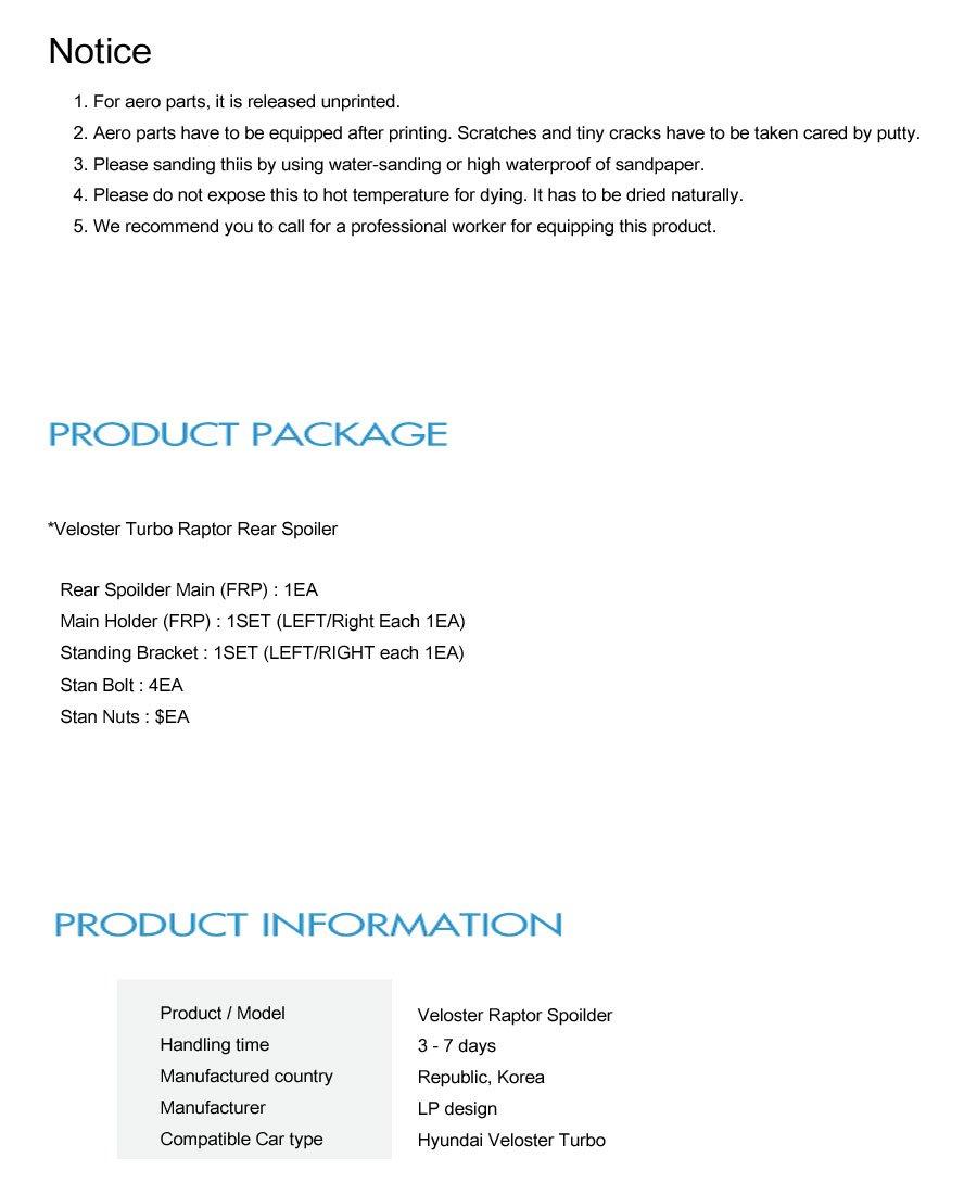 [LP diseño] Raptor Spoiler Parachoques Delantero spoilder coche deportivo: Amazon.es: Bricolaje y herramientas