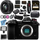 Panasonic Lumix DC- G9 DC-G9KBODY Mirrorless Micro Four Thirds Digital Camera Lumix G 20mm f/1.7 II ASPH. Lens (Black) DMW-BGG9 Battery Grip Bundle