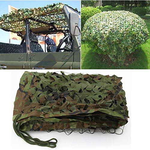 2 X 3m Woodland Filets de Camouflage Militaire Tactique Pour Camping Chasse Tournage Vert 1