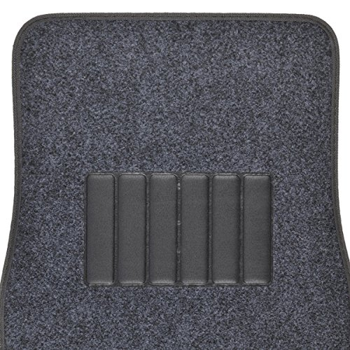 BDK Classic Carpet Floor Mats for Car & Auto - Universal Fit -Front & Rear with  Heelpad (Charcoal)