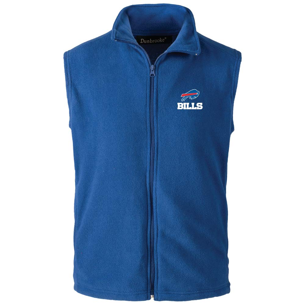 NFL Buffalo Bills Mens Houston Fleece Vest Royal X-Large