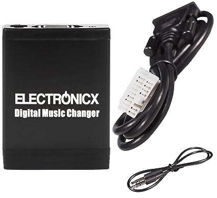 Electronicx Elec-M06-HON2 Adaptador de Musica Digital para Coche USB, SD, AUX, Cambiador de CD, para Honda Acura AB 2003