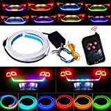 Trunk Lights - Tail Light, JAYEJA 5 Function 12 Driving Modes Remote Control Flexible Car Tail Trunk Brake Reversing Turn Signal Light Lamp 5050 Led Running Signal Light Car Flowing Warning Light
