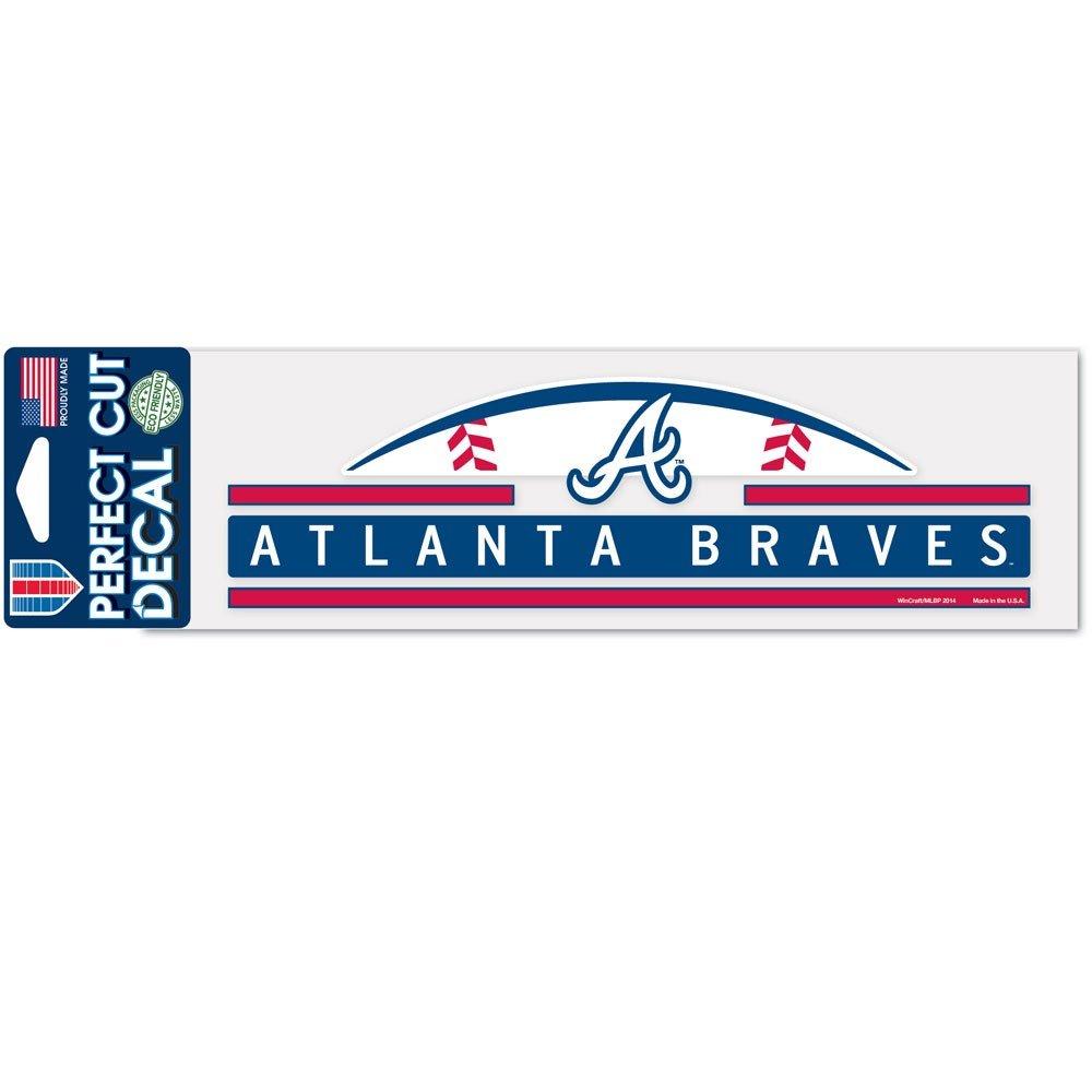 Wincraft Atlanta Braves Official MLB 3 inch x 10 inch Die Cut Car Decal by 403575