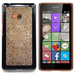 GIFT CHOICE / Teléfono Estuche protector Duro Cáscara Funda Cubierta Caso / Hard Case for Nokia Lumia 540 // Wallpaper Wood Carving Brown Design Art //
