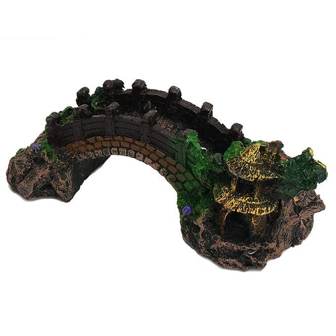 Vipithy Paisajismo Puente Resina Puente Acuario Decoración Fish Tank Ornament: Amazon.es: Hogar