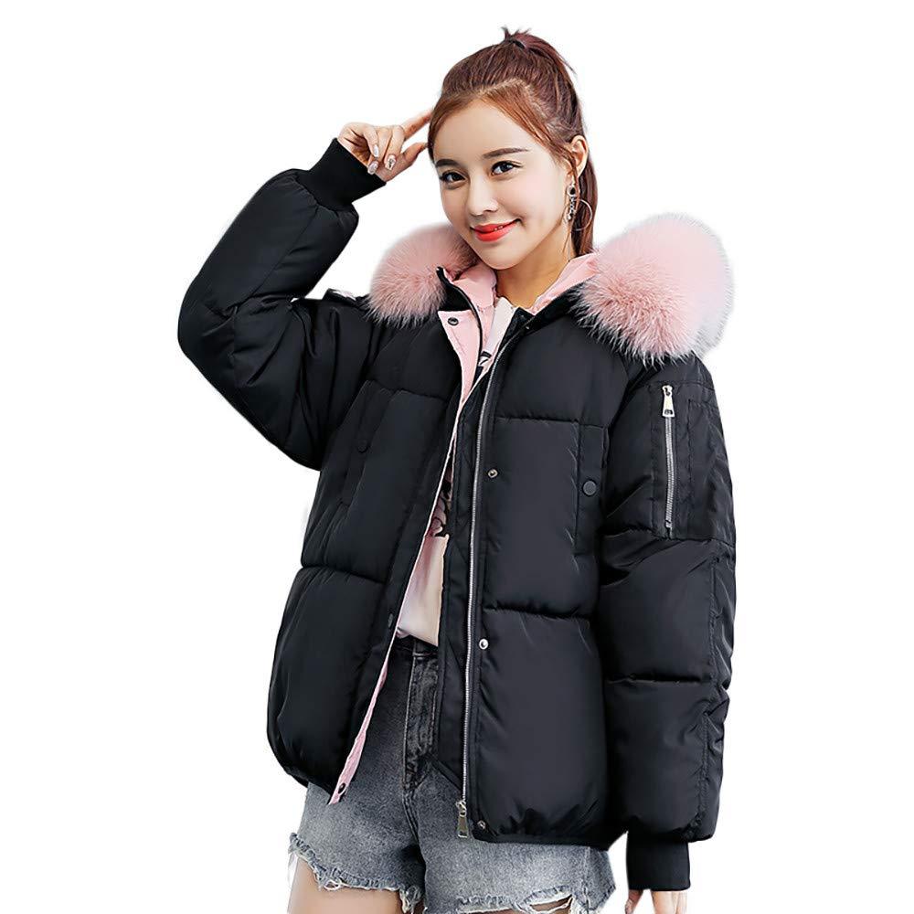 Seaintheson Women's Coats OUTERWEAR レディース B07HRCKZWJ Medium|ブラック ブラック Medium