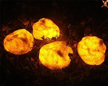 Luce solare 4led 0.4w illuminazione creativa luce di pietra patio
