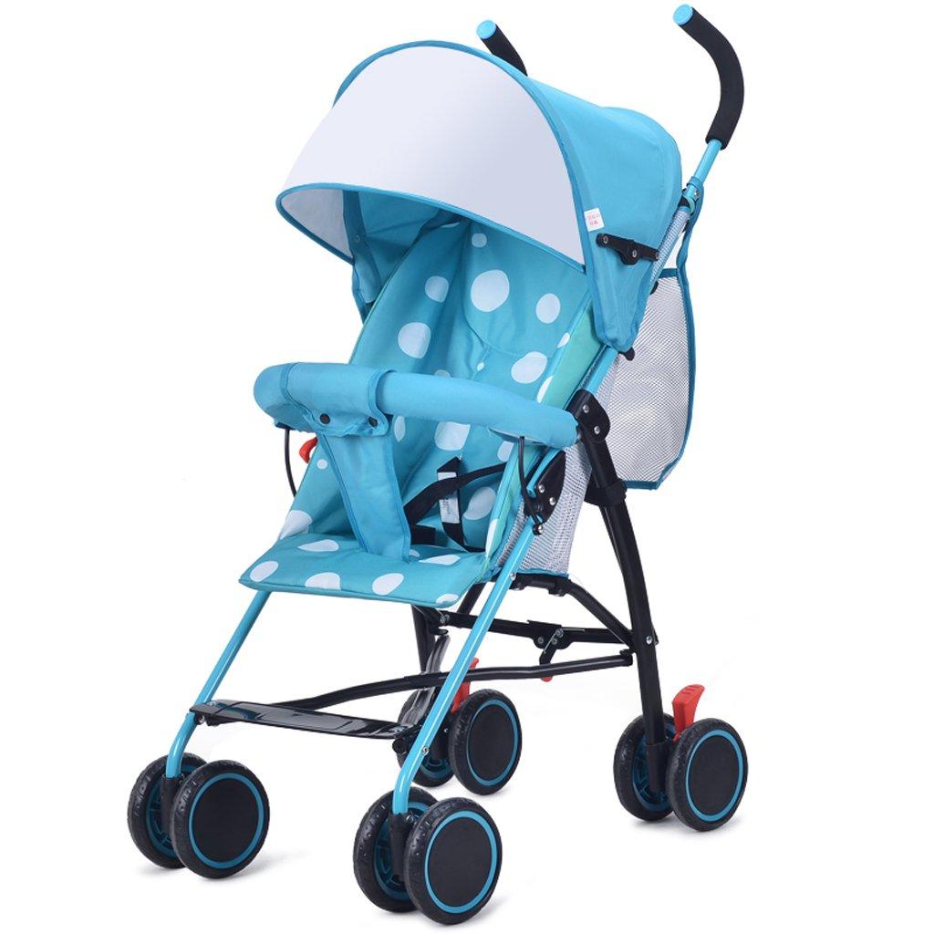 赤ちゃんベビーカー超軽量ポータブルミニ傘子供のベビーカー(ブルー) (ピンク) 75 95 cm B07BGW1YDZブルー