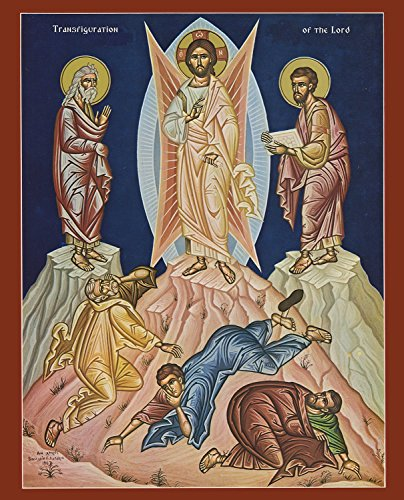 Christ   Feast Of Transfiguration  Mounted Icon Print