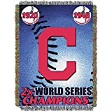 "MLB Cleveland Indians Commemorative Woven Tapestry Throw, 48"" x 60"""