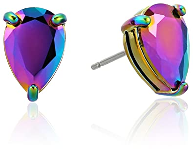9e6b87ccffe2b Amazon.com  kate spade new york Teardrop Studs Anodized Stud Earrings   Jewelry