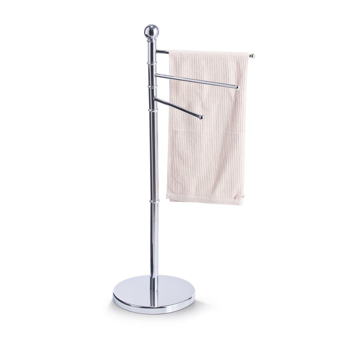 /ø 27 x 34,5 x 92 cm Zeller 18415 Porta asciugamani in metallo cromato
