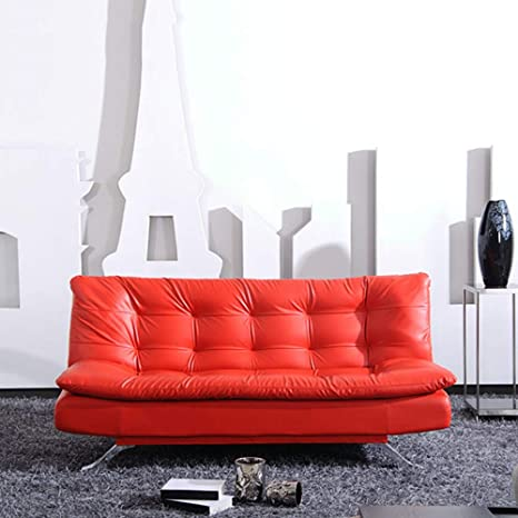 Amazon.com: DNNAL Faux Leather Sofa Multifunctional ...