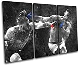 Bold Bloc Design - Conor Mcgregor Nate Diaz UFC MMA Sports TREBLE Canvas Art Print Box Framed Picture Wall Hanging - Hand Made In The UK - Framed And Ready To Hang review