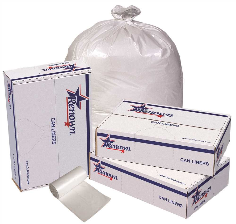 RENOWN GIDDS-2478860 Renown Trash Can Liners, White, 24 x 32, .45ml, 50 Liners Per Roll, 10 Rolls Per Case