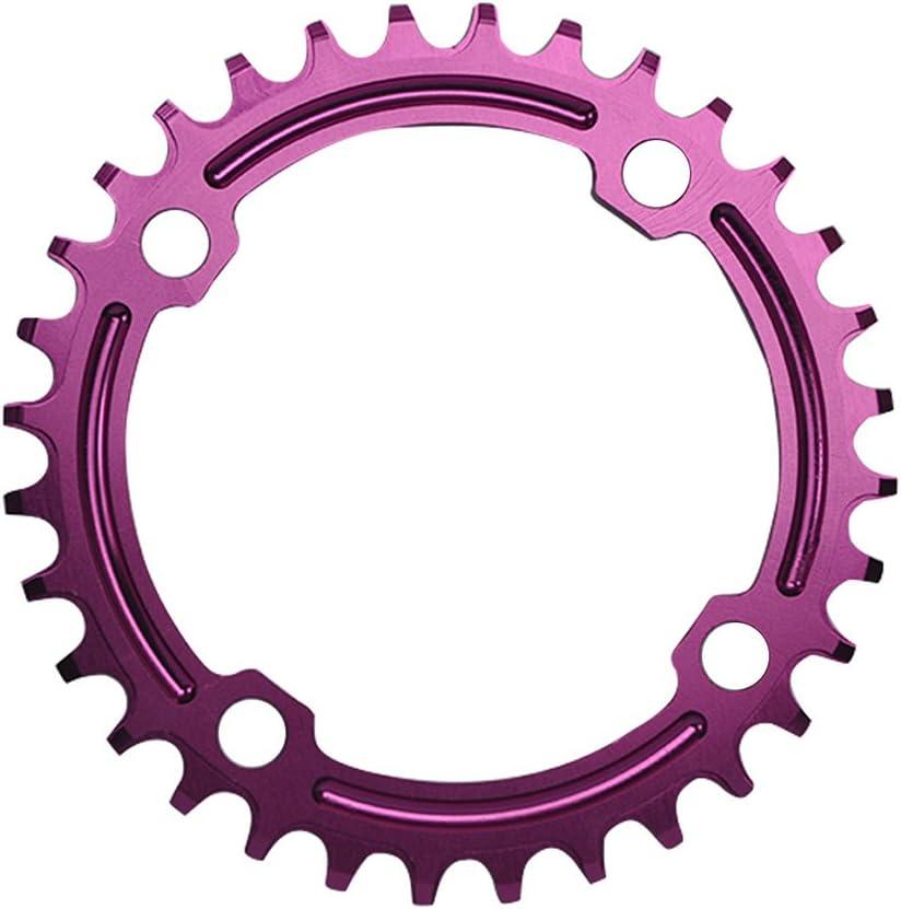 UPANBIKE Bicicleta Narrow Wide Plato 104 BCD Forma Redonda Sola Cadena Anillo Dientes
