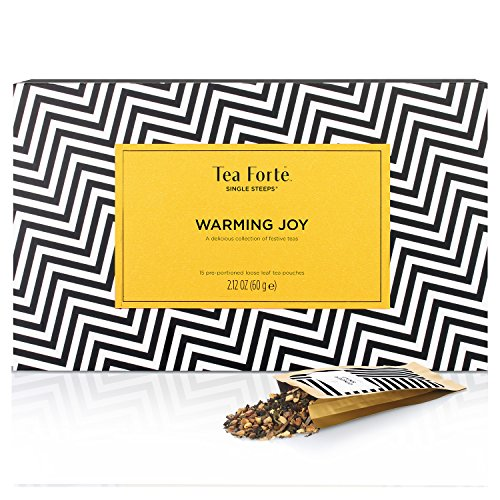 Tea Forte WINTER COLLECTION Single Steeps Loose Leaf Tea Sampler (Warming Joy)