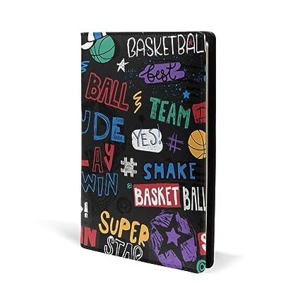 Funda de piel para libro de fútbol de baloncesto, diseño deportivo ...
