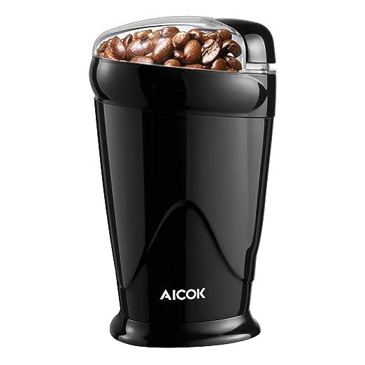 Molinillo de Café Eléctrico Aicok, Molinillo Compacto de ...