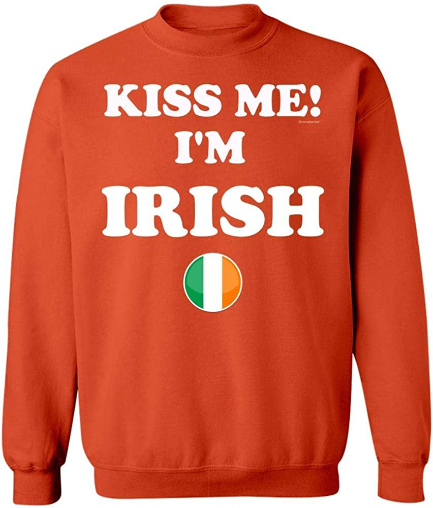 Sweatshirt Orange Funny Humor Kiss Me Im Irish