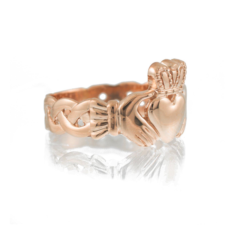 Amazon.com: Bold oro rosa de 10 K banda de nudo de la ...