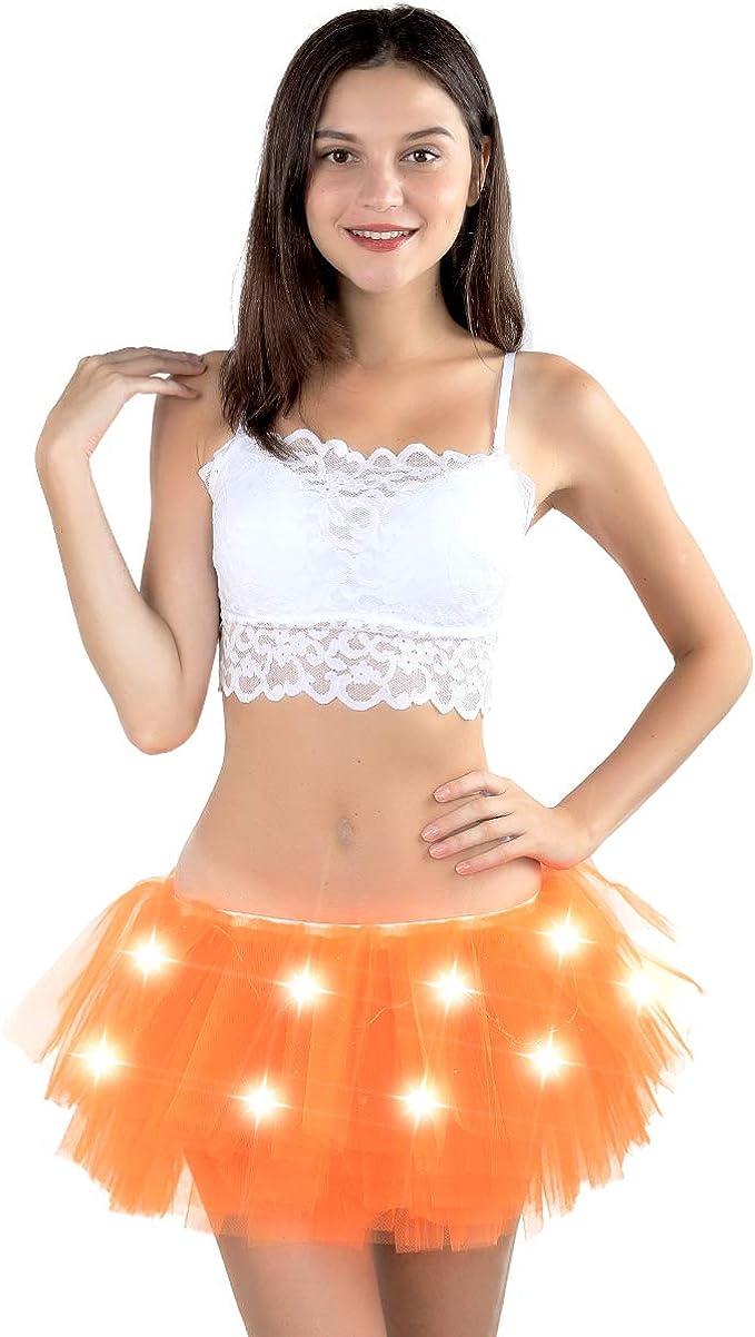 SIPU Tutus con luz para Mujer, tutú de Halloween para niñas ...